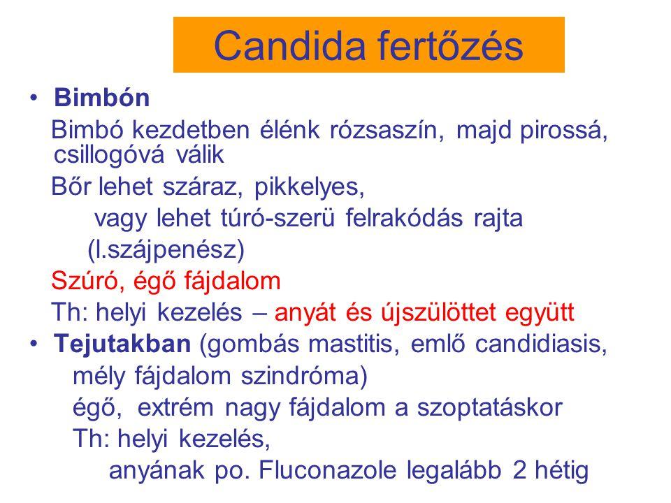 Candida fertőzés Bimbón