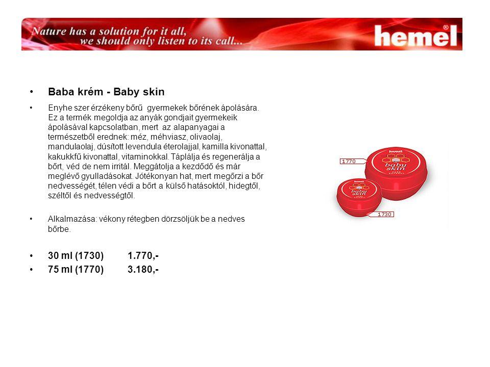 Baba krém - Baby skin 30 ml (1730) 1.770,- 75 ml (1770) 3.180,-