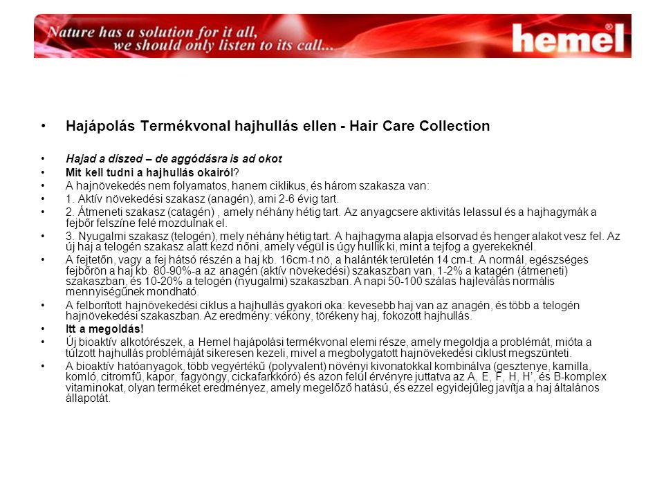Hajápolás Termékvonal hajhullás ellen - Hair Care Collection