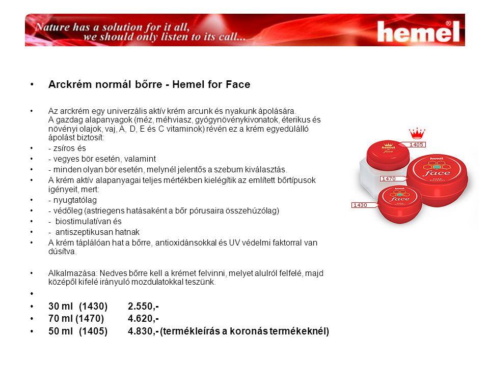 Arckrém normál bőrre - Hemel for Face