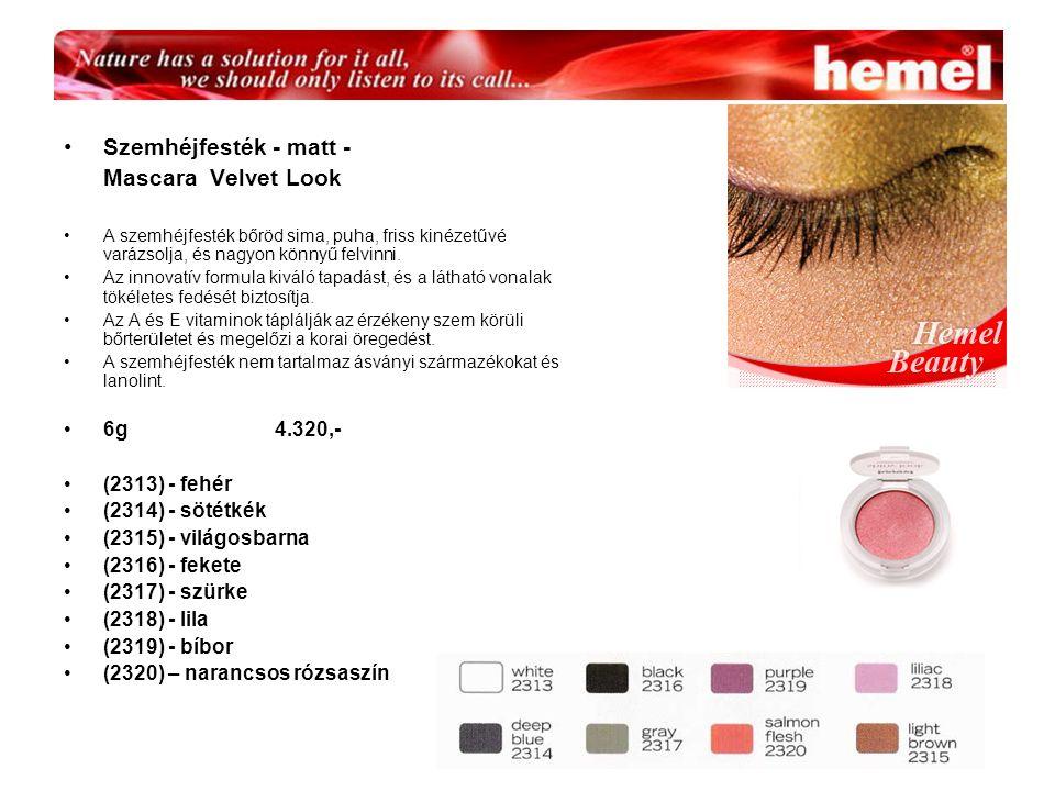 Szemhéjfesték - matt - Mascara Velvet Look 6g 4.320,- (2313) - fehér