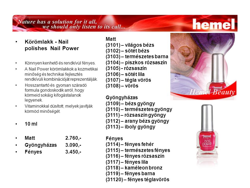Körömlakk - Nail polishes Nail Power