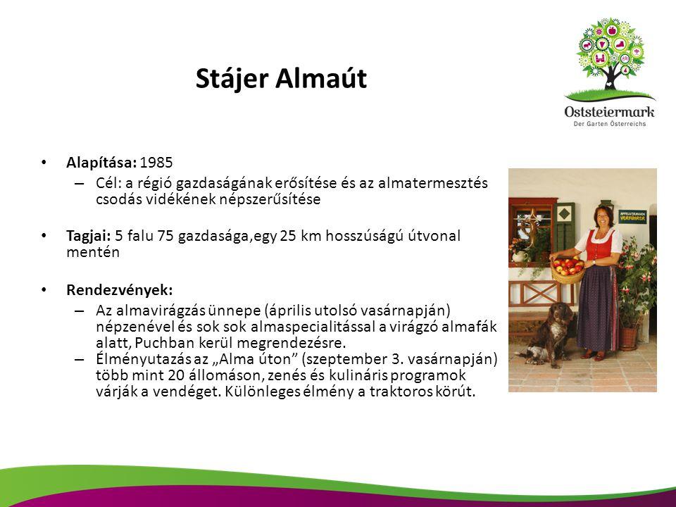 Stájer Almaút Alapítása: 1985