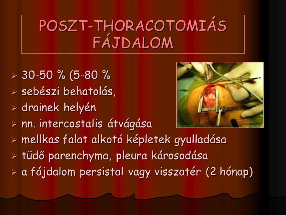 POSZT-THORACOTOMIÁS FÁJDALOM