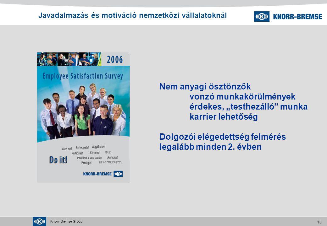 Javadalmazás és motiváció nemzetközi vállalatoknál