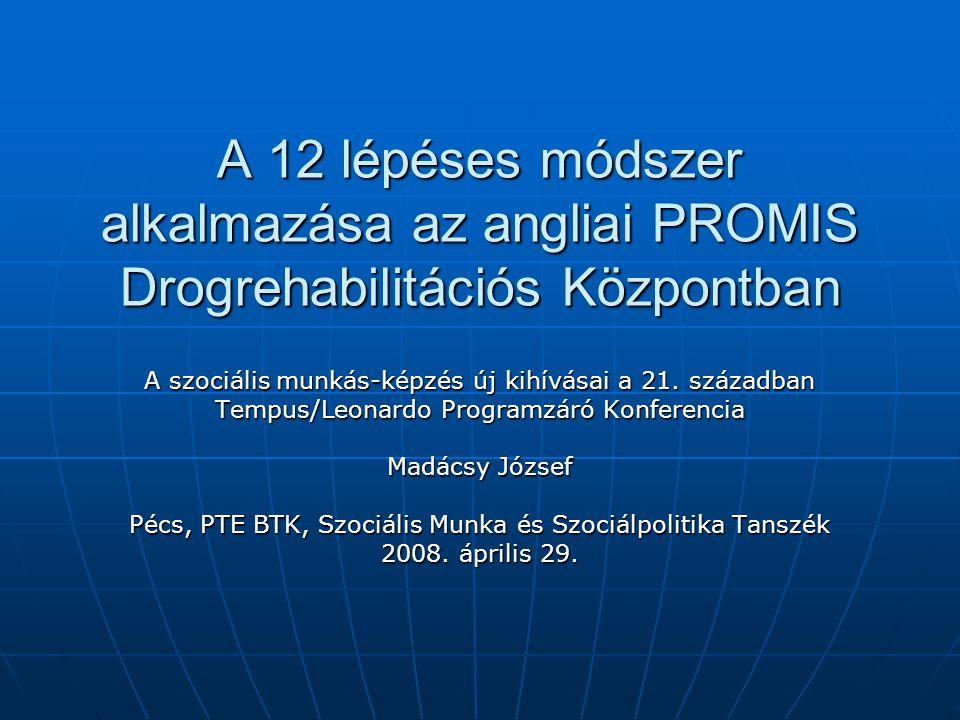 A 12 lépéses módszer alkalmazása az angliai PROMIS Drogrehabilitációs Központban