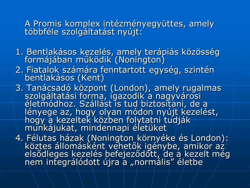A Promis komplex intézményegyüttes, amely többféle szolgáltatást nyújt: