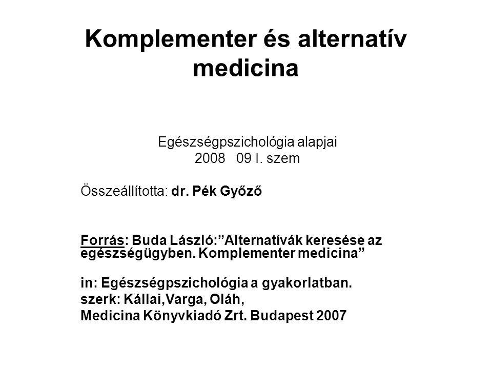 Komplementer és alternatív medicina