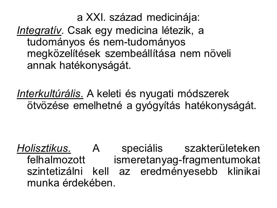 a XXI. század medicinája: