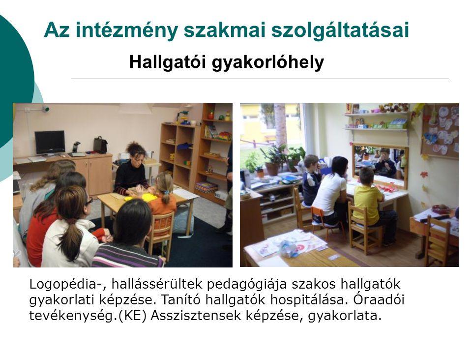 Az intézmény szakmai szolgáltatásai Hallgatói gyakorlóhely