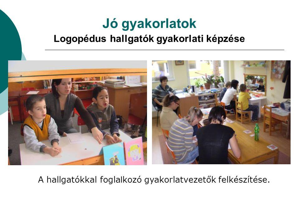 Jó gyakorlatok Logopédus hallgatók gyakorlati képzése