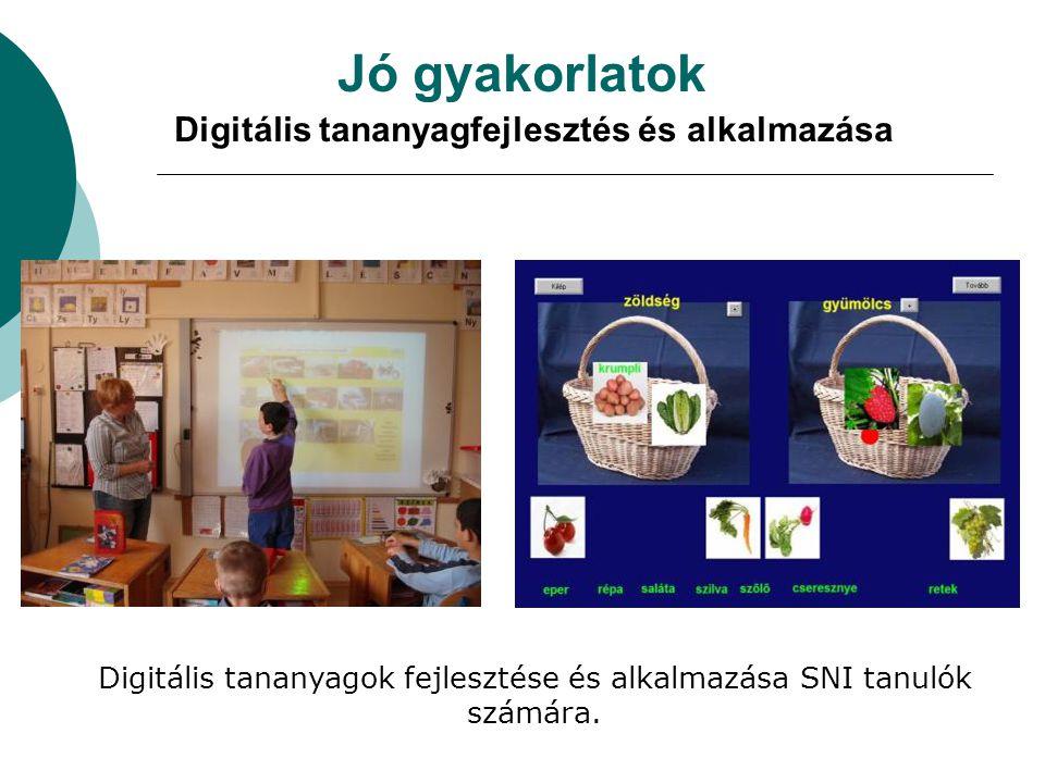 Jó gyakorlatok Digitális tananyagfejlesztés és alkalmazása