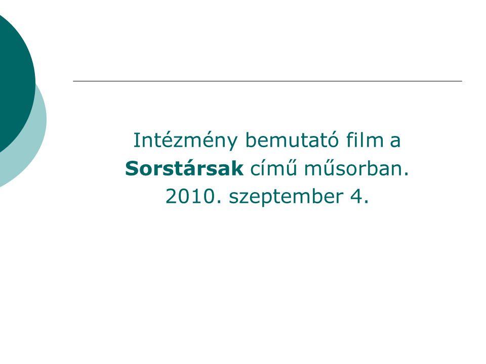 Intézmény bemutató film a Sorstársak című műsorban.