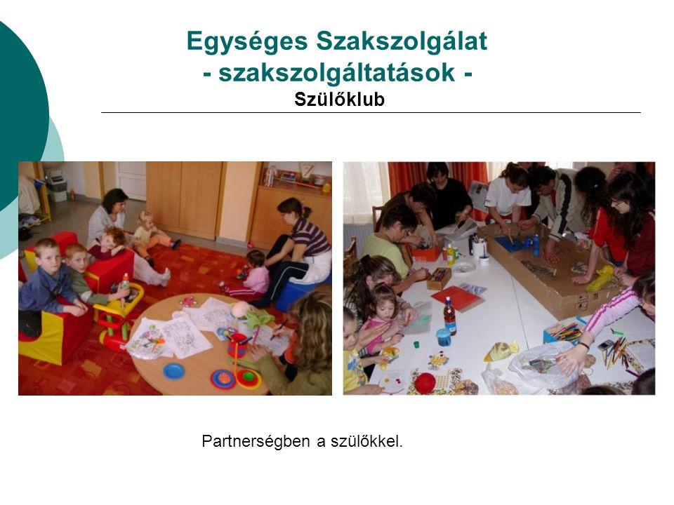 Egységes Szakszolgálat - szakszolgáltatások - Szülőklub
