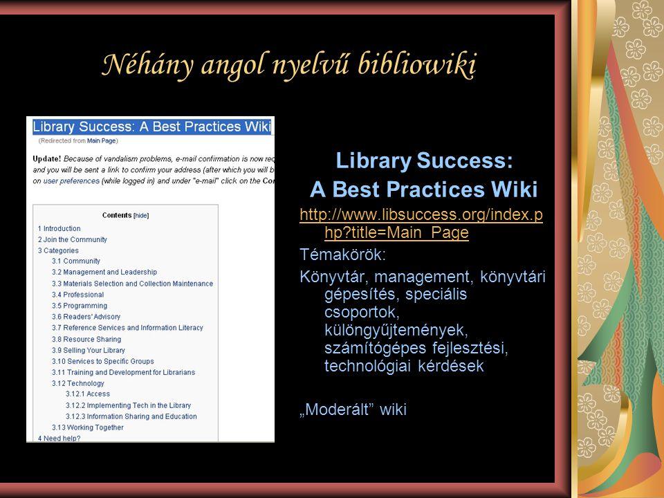 Néhány angol nyelvű bibliowiki
