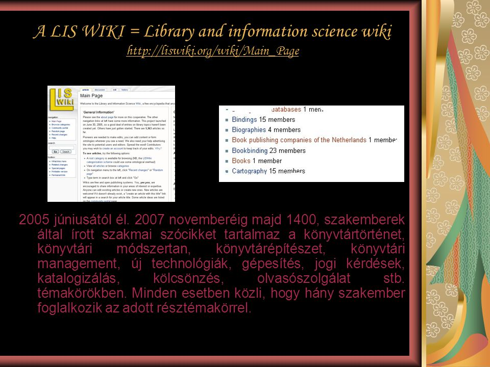 A LIS WIKI = Library and information science wiki http://liswiki