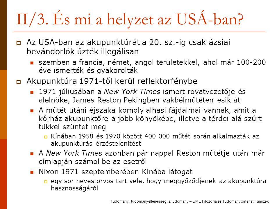 II/3. És mi a helyzet az USÁ-ban