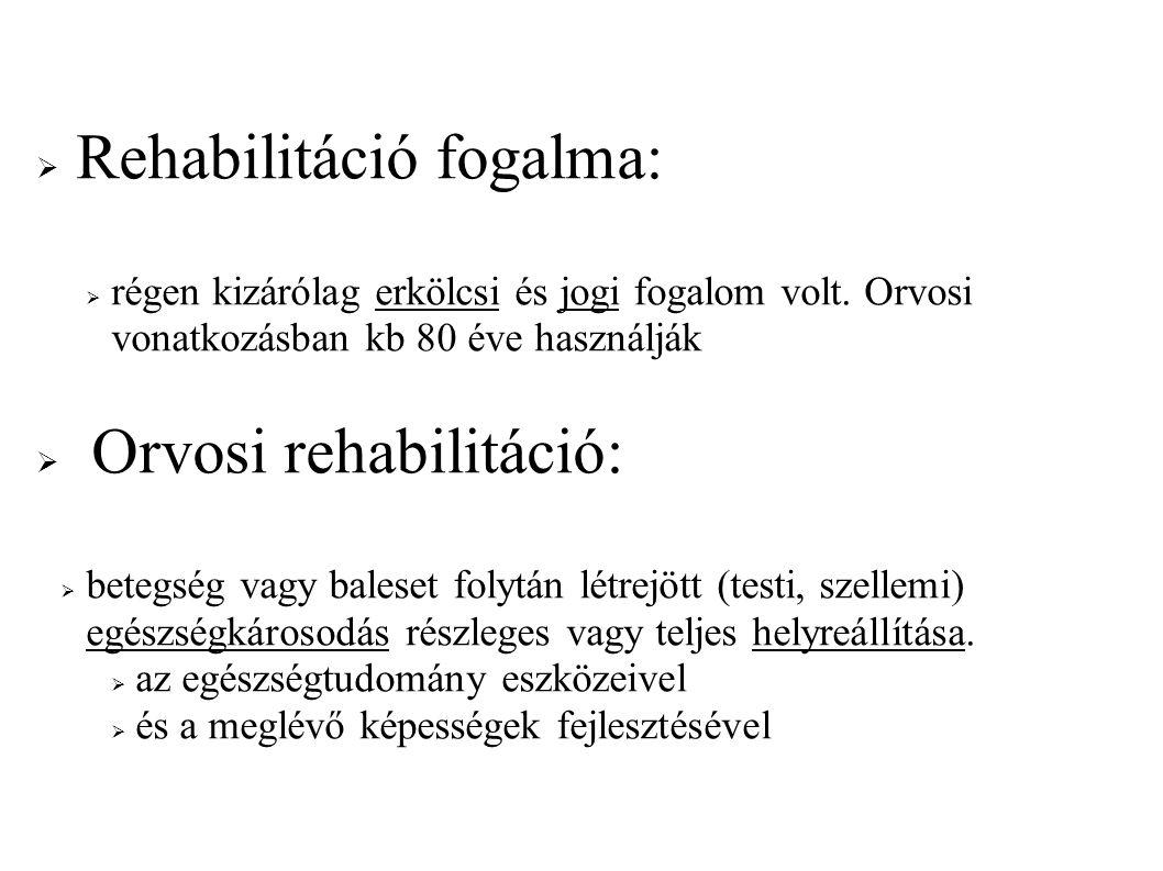 Rehabilitáció fogalma: