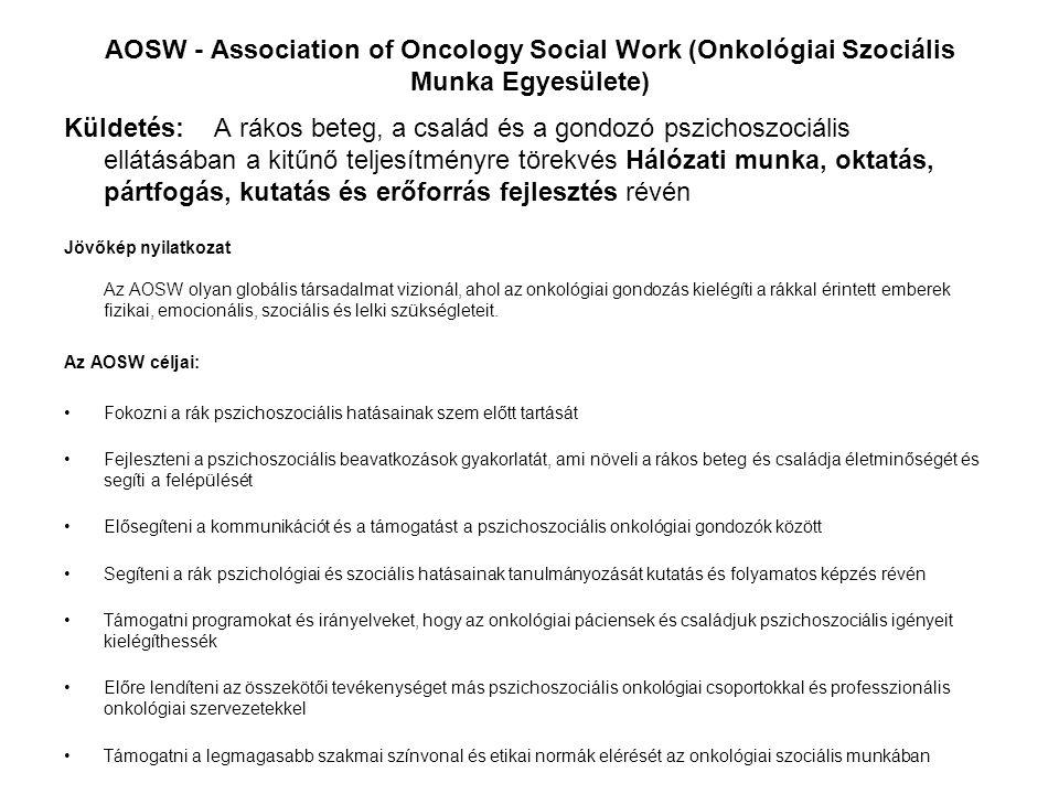AOSW - Association of Oncology Social Work (Onkológiai Szociális Munka Egyesülete)
