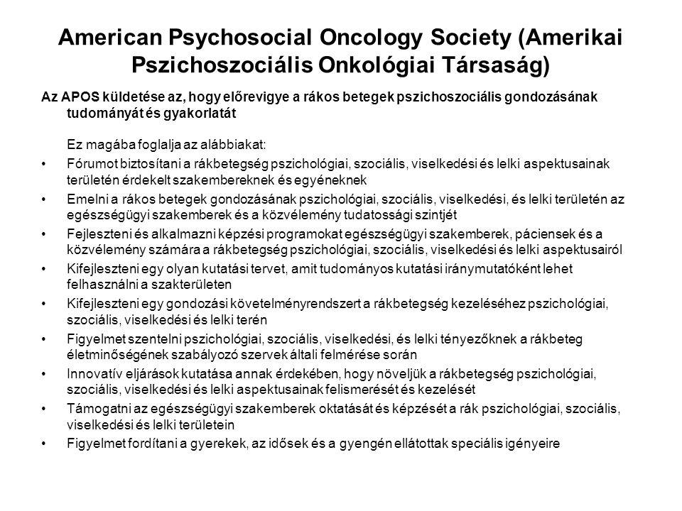 American Psychosocial Oncology Society (Amerikai Pszichoszociális Onkológiai Társaság)