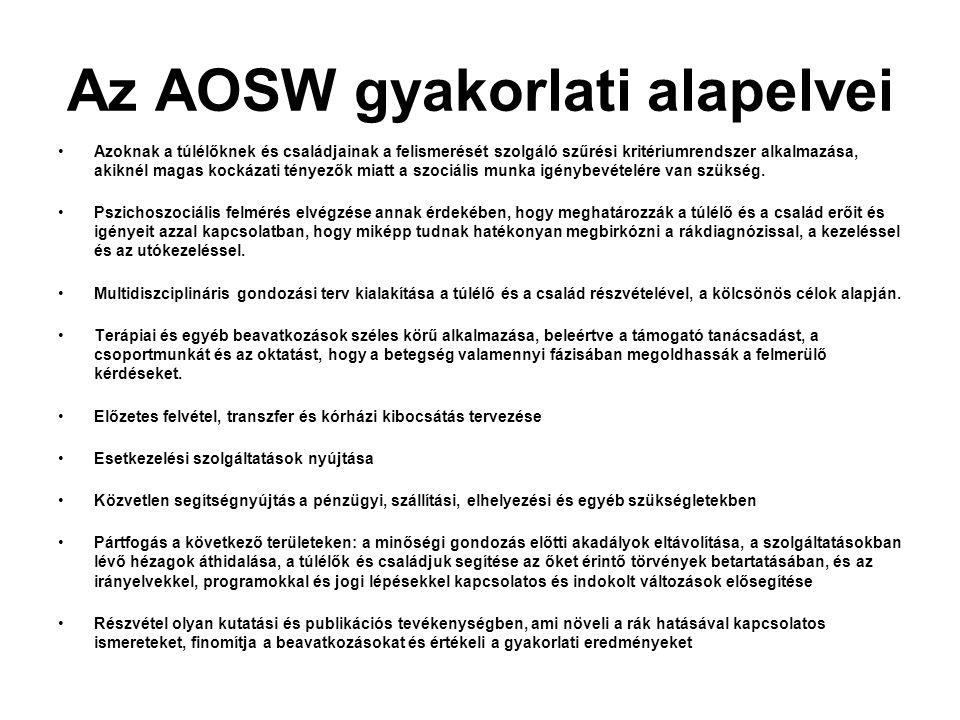 Az AOSW gyakorlati alapelvei