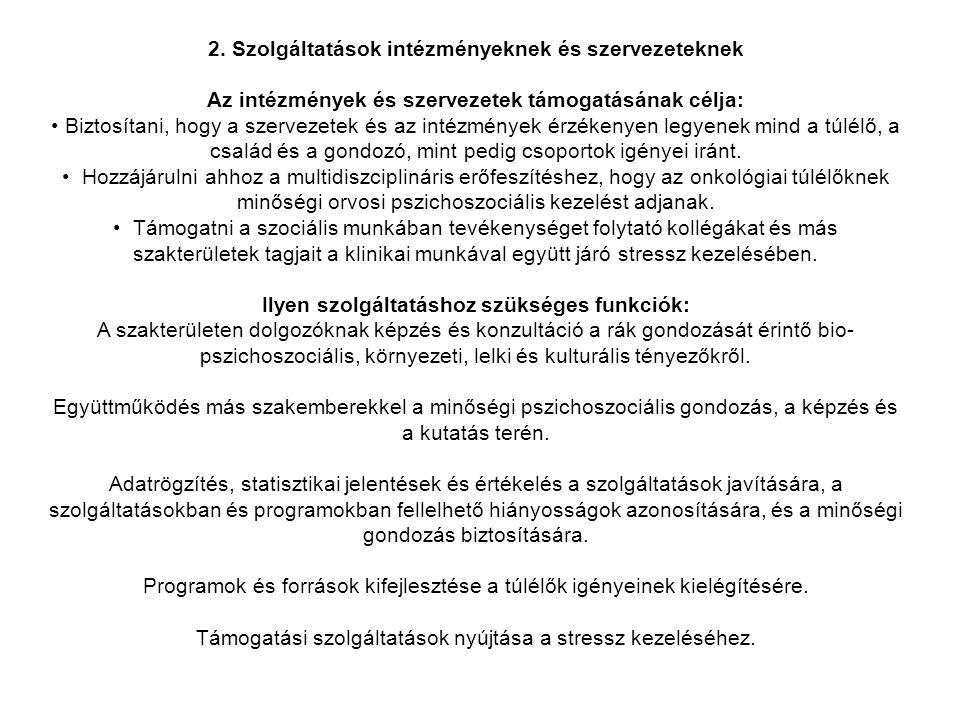 2. Szolgáltatások intézményeknek és szervezeteknek