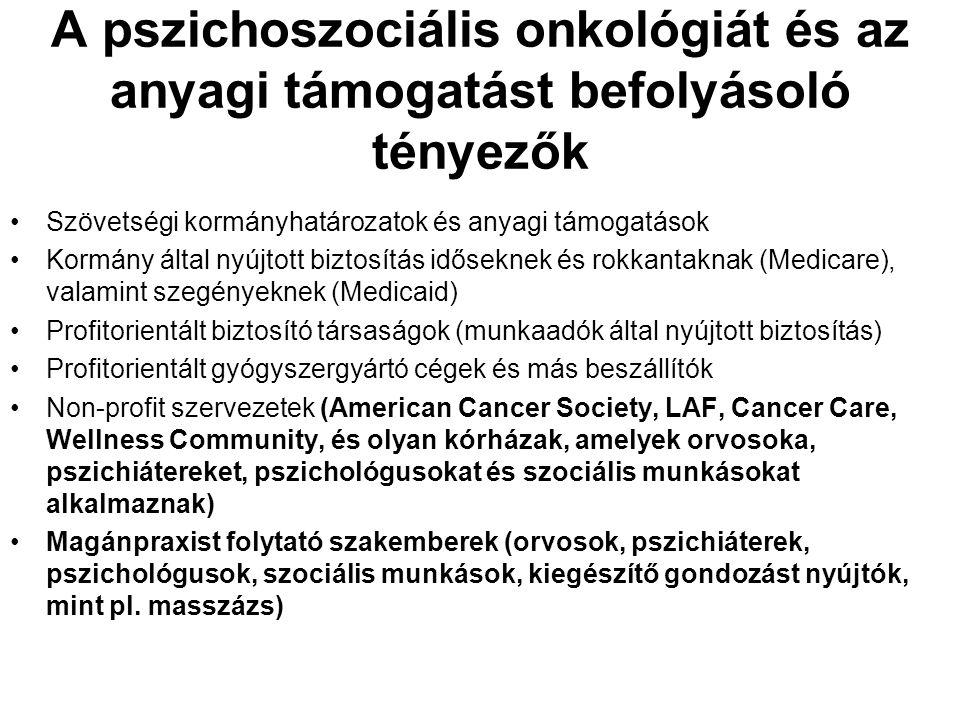 A pszichoszociális onkológiát és az anyagi támogatást befolyásoló tényezők