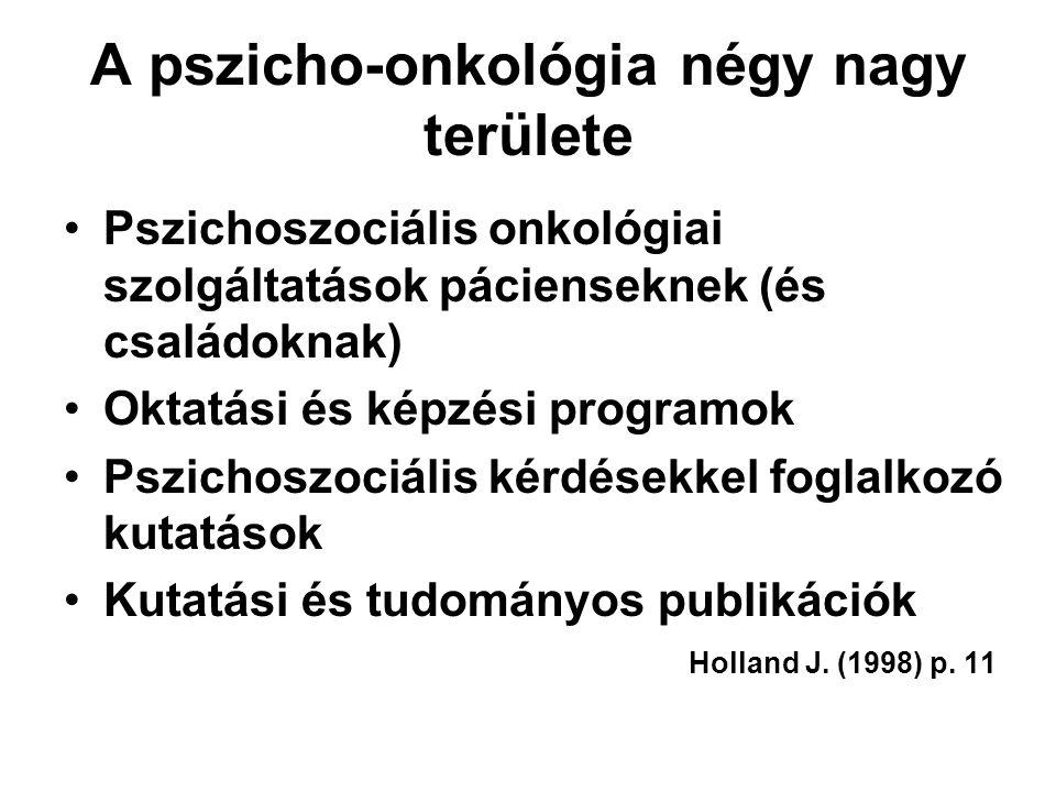 A pszicho-onkológia négy nagy területe