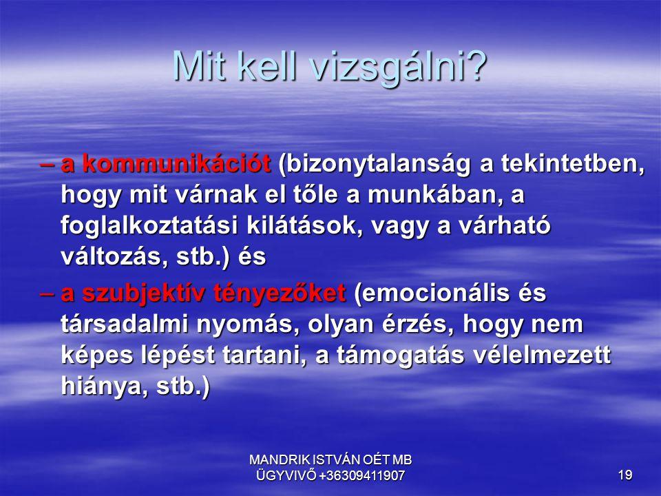 MANDRIK ISTVÁN OÉT MB ÜGYVIVŐ +36309411907