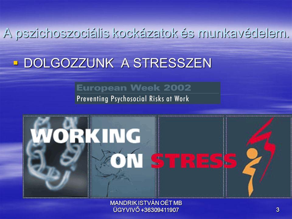 A pszichoszociális kockázatok és munkavédelem.