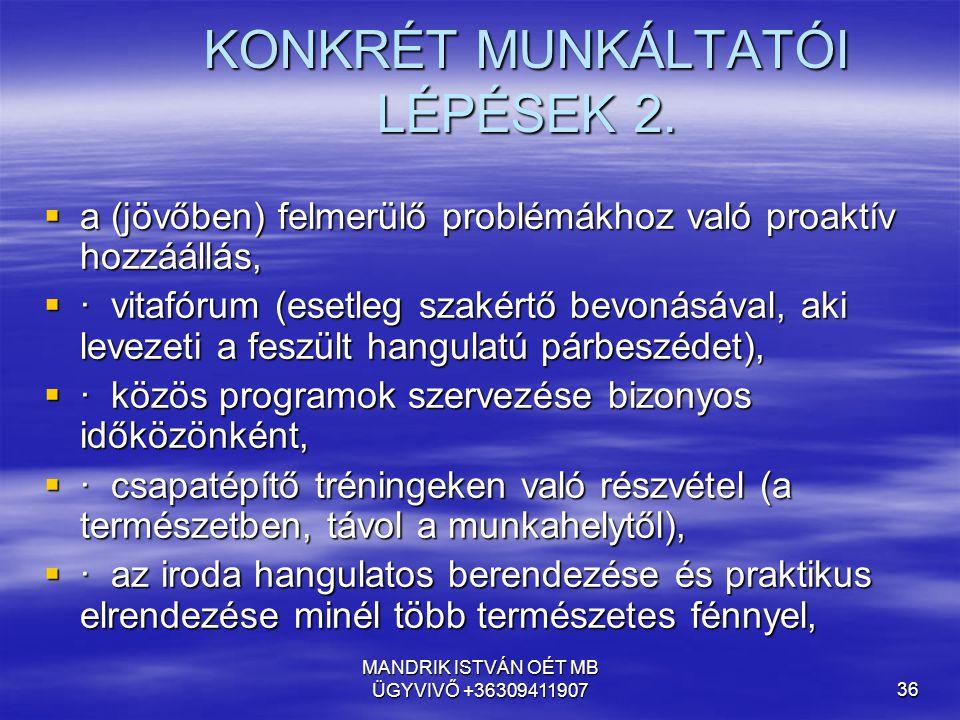 KONKRÉT MUNKÁLTATÓI LÉPÉSEK 2.