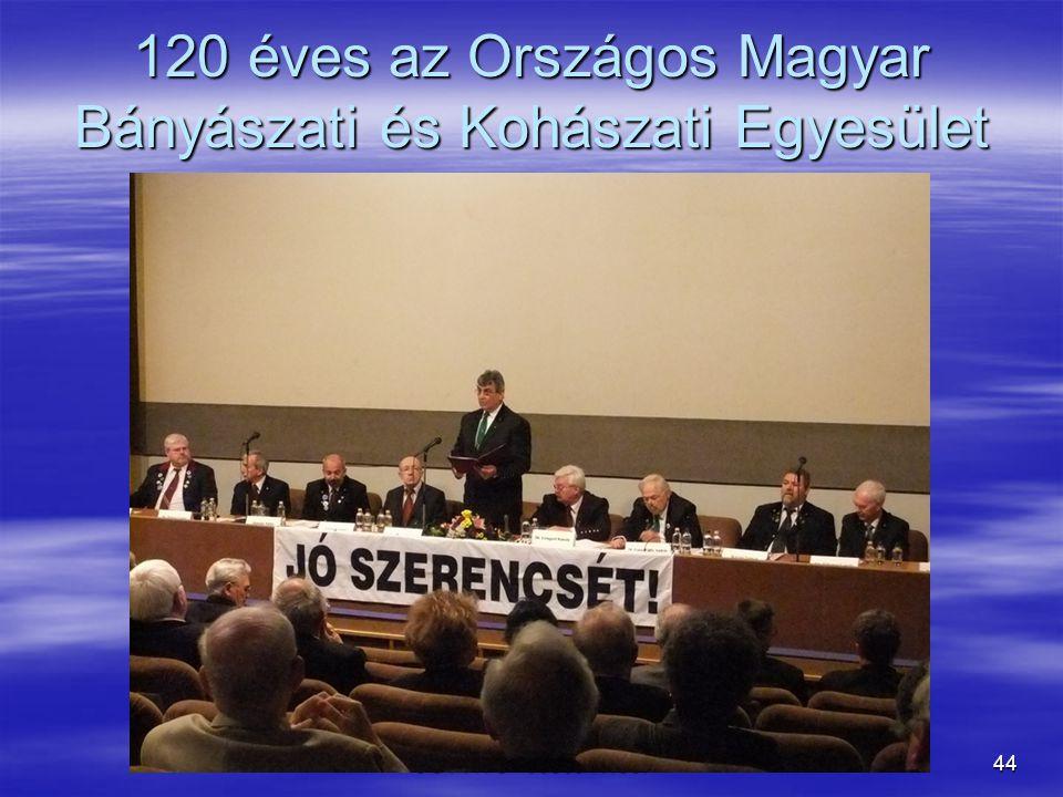 120 éves az Országos Magyar Bányászati és Kohászati Egyesület