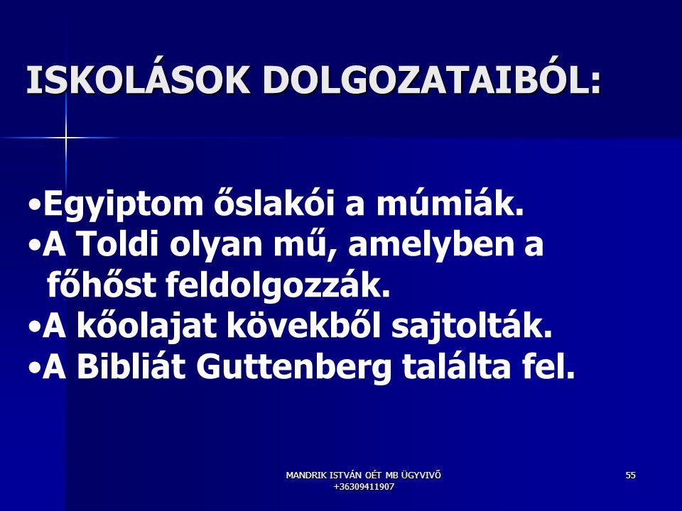ISKOLÁSOK DOLGOZATAIBÓL: