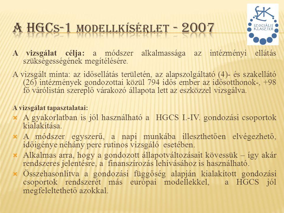 A HGCs-1 modellkísérlet - 2007
