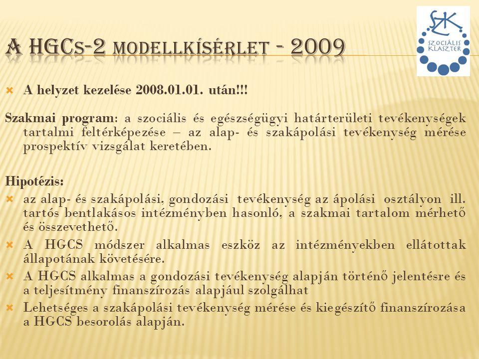 A HGCs-2 modellkísérlet - 2009