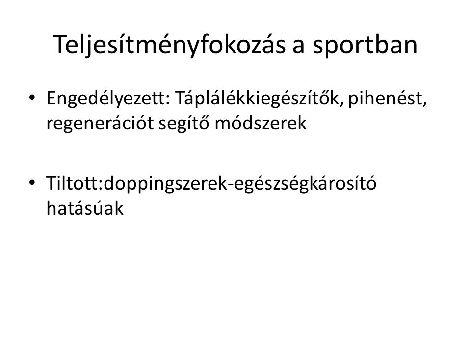 Teljesítményfokozás a sportban