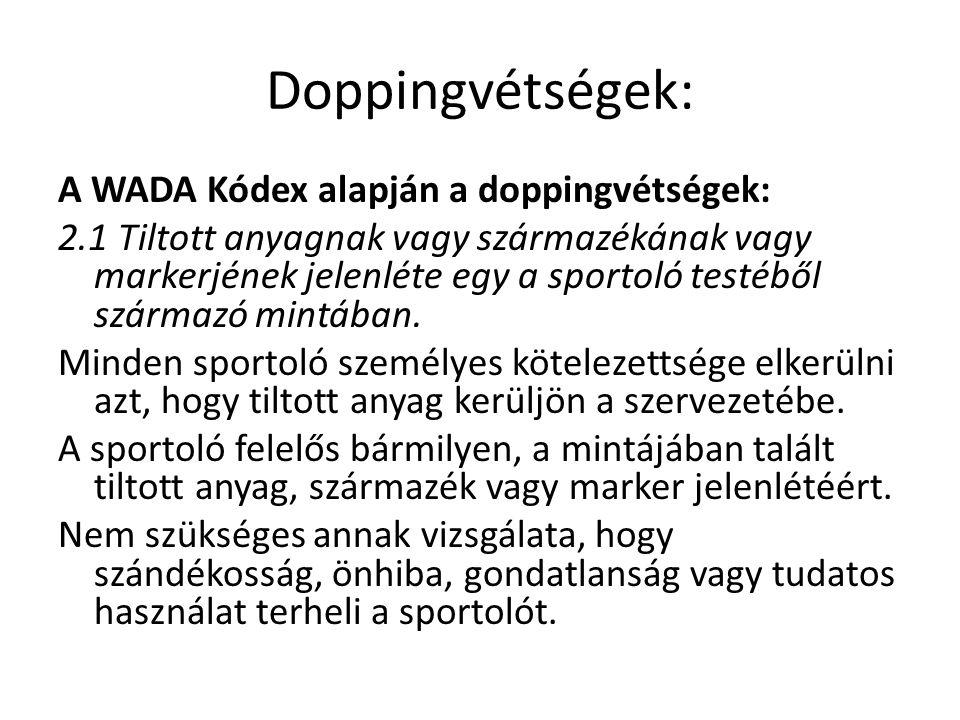 Doppingvétségek:
