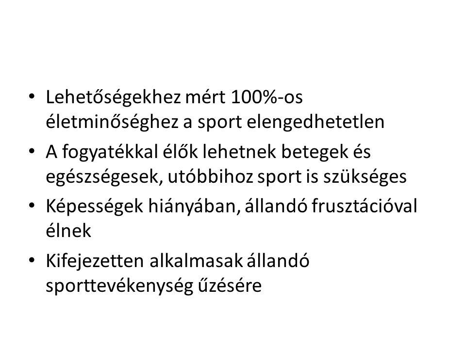Lehetőségekhez mért 100%-os életminőséghez a sport elengedhetetlen