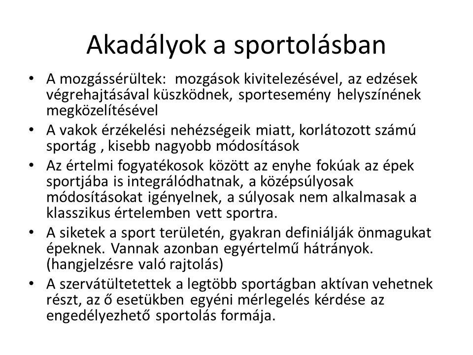 Akadályok a sportolásban