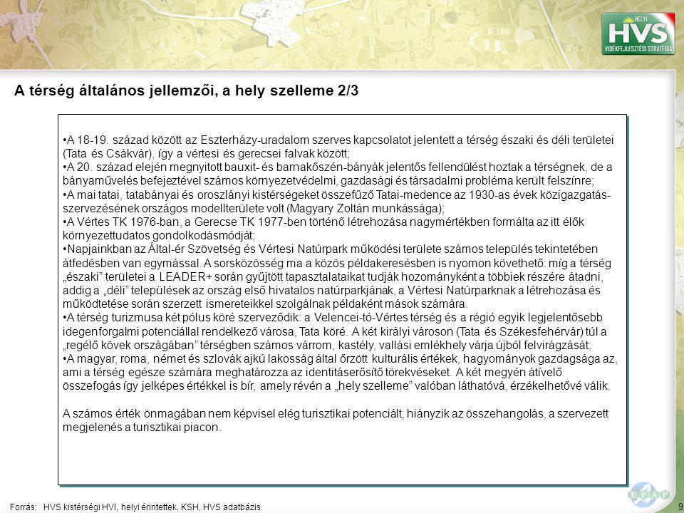 A térség általános jellemzői, a hely szelleme 3/3