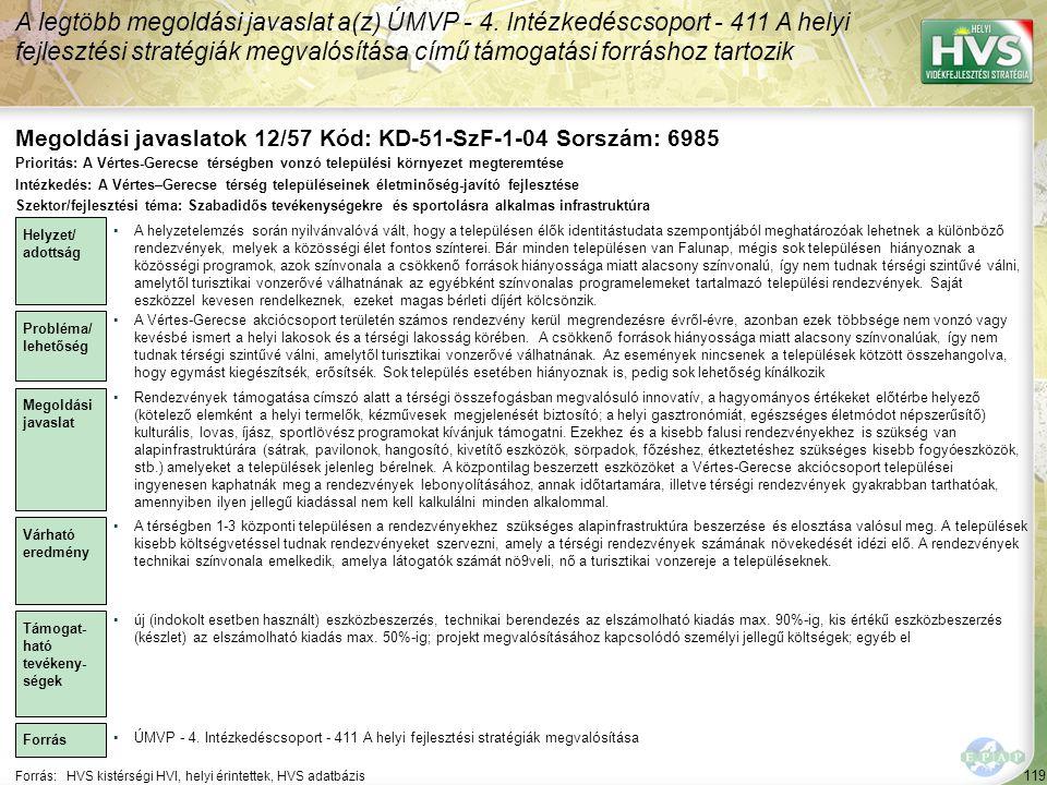 Megoldási javaslatok 12/57 Kód: KD-51-SzF-1-04 Sorszám: 6985