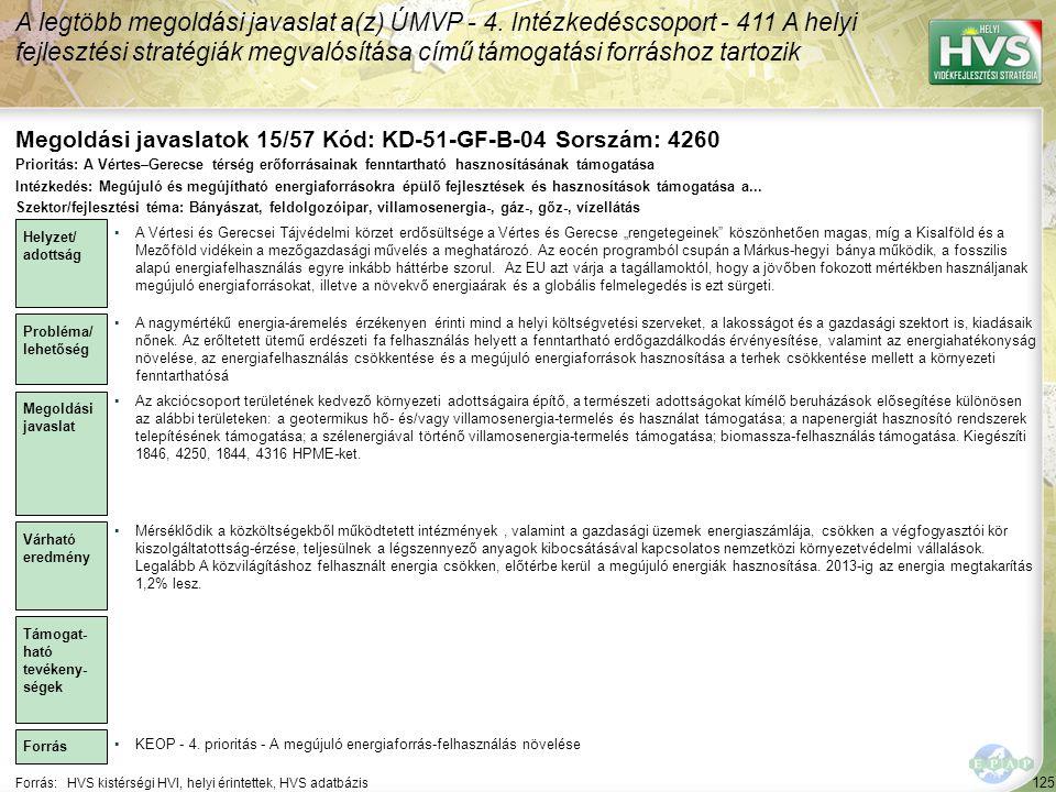 Megoldási javaslatok 15/57 Kód: KD-51-GF-B-04 Sorszám: 4260