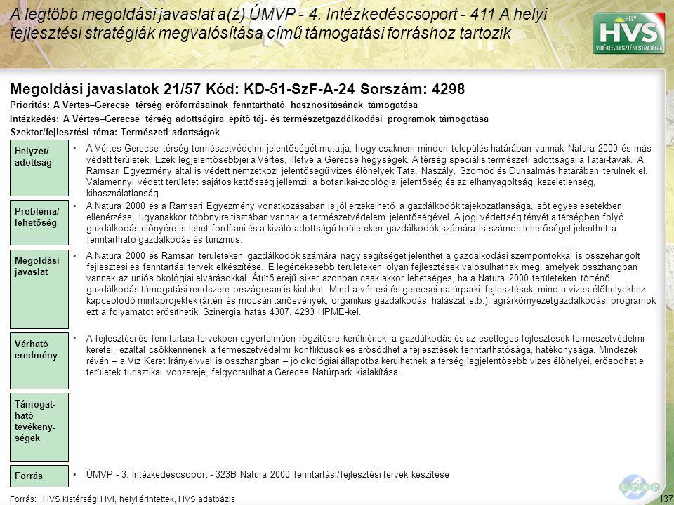Megoldási javaslatok 21/57 Kód: KD-51-SzF-A-24 Sorszám: 4298