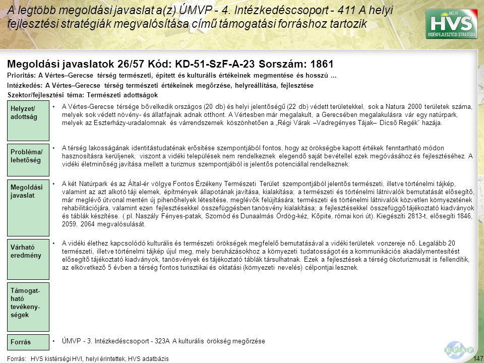 Megoldási javaslatok 26/57 Kód: KD-51-SzF-A-23 Sorszám: 1861