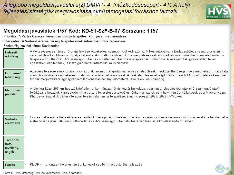 Megoldási javaslatok 1/57 Kód: KD-51-SzF-B-07 Sorszám: 1157