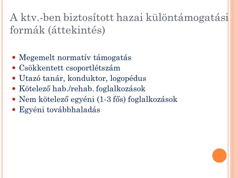 A ktv.-ben biztosított hazai különtámogatási formák (áttekintés)