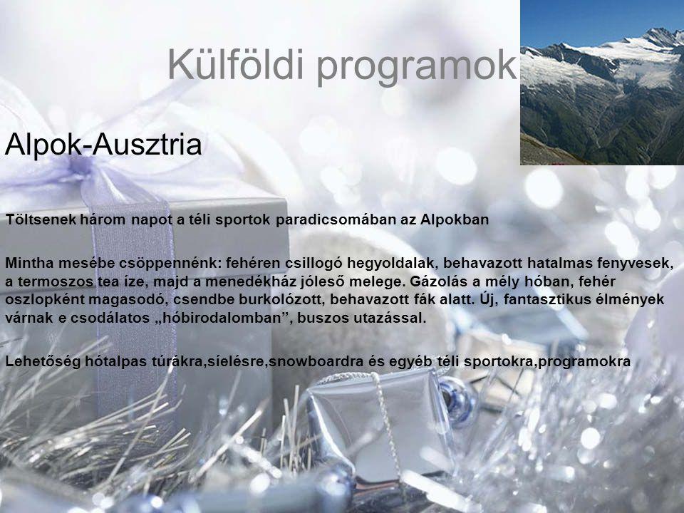Külföldi programok Alpok-Ausztria