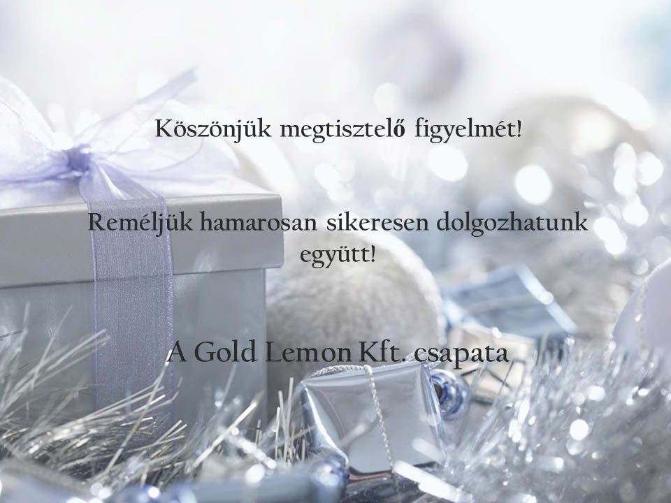 A Gold Lemon Kft. csapata