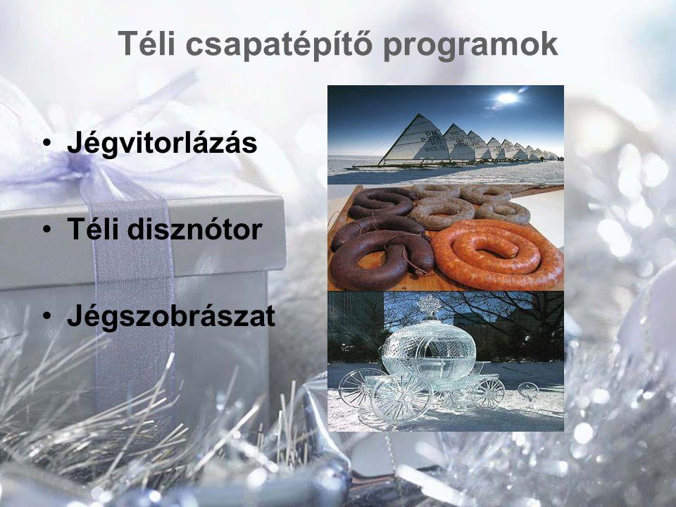 Téli csapatépítő programok