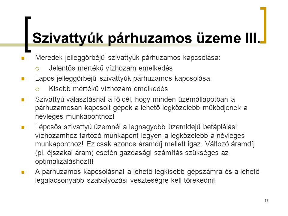 Szivattyúk párhuzamos üzeme III.